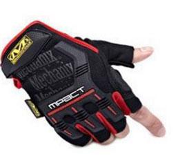 Găng tay Mechanix Mpact cụt ngón (Đen - Đỏ)