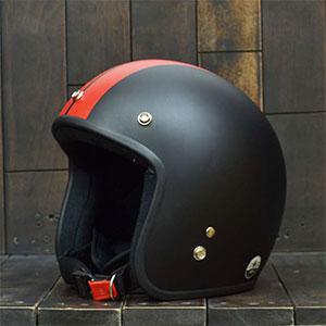 Mũ bảo hiểm 3/4 Dammtrax big line đen đỏ nhám