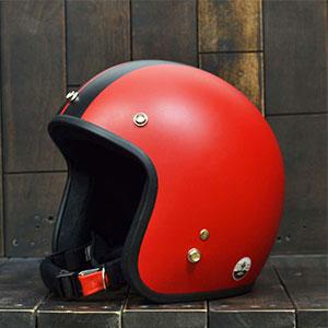 Mũ Bảo Hiểm 3/4 Dammtrax big line đỏ đen nhám