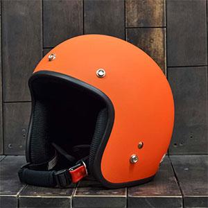 Mũ bảo hiểm 3/4 Dammtrax cam nhám