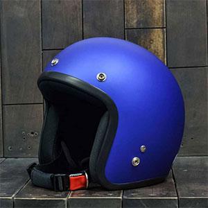 Mũ bảo hiểm 3/4 Dammtrax coban nhám