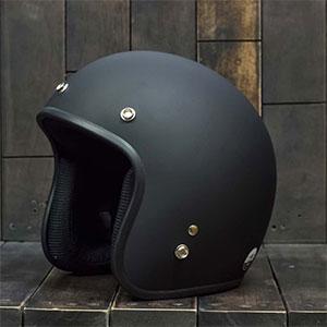 Mũ Bảo Hiểm 3/4 Dammtrax đen nhám