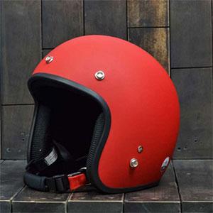 Mũ bảo hiểm 3/4 Dammtrax đỏ nhám