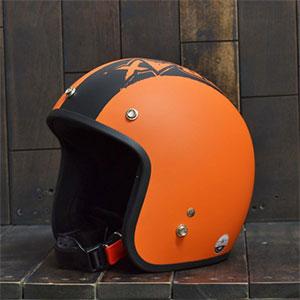 Mũ Bảo Hiểm 3/4 Dammtrax srat cam đen