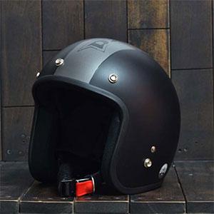 Mũ Bảo Hiểm 3/4 Dammtrax srat đen xám nhám