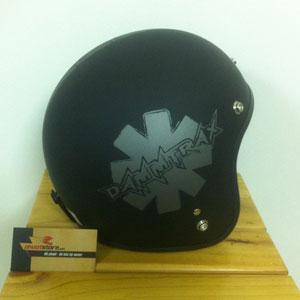 Mũ bảo hiểm 3/4 Dammtrax srat đen xám (Việt Nam)