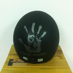 Mũ bảo hiểm 3/4 Napoli moto phượt đen xám nhám