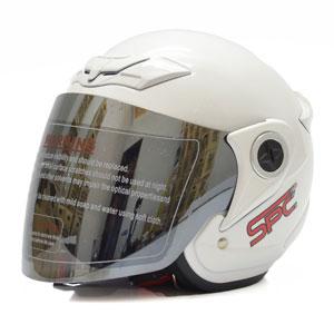 Mũ bảo hiểm 3/4 SPC trắng bóng