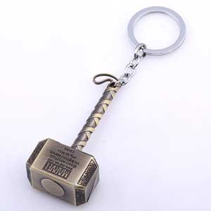 Móc khóa búa Thor kim loại đồng