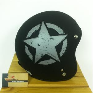 Mũ bảo hiểm 3/4 vintage đen nhám Napoli
