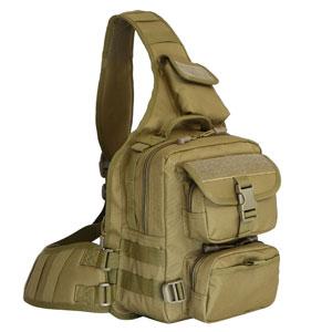 Túi đeo chéo Army nâu đất lớn