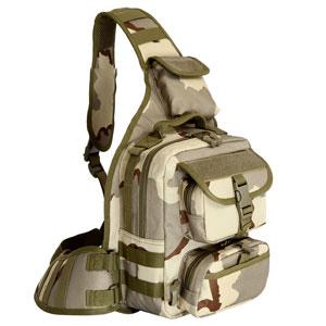 Túi đeo chéo Army rằn ri xám nâu xanh (lớn)