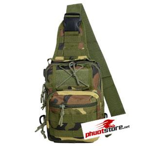 Túi đeo chéo Army rằn ri xanh lính kiểu 2