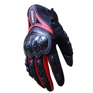 Găng tay đi phượt Suomy có gù, cảm ứng (đen-đỏ)