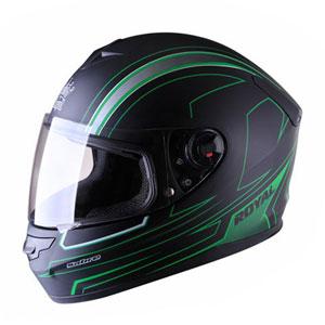 Mũ bảo hiểm fullface Royal M07 đen xanh lá nhám