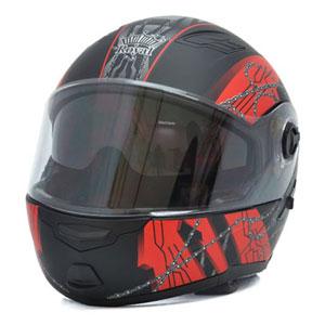Mũ bảo hiểm lật cằm Royal M08 đen đỏ nhám