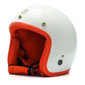 Mũ bảo hiểm Royal M20 bóng trắng viền cam