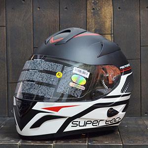 Mũ bảo hiểm fullface Bulldog Knight ii44 đen/ trắng nhám