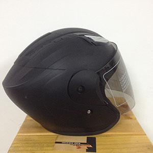 Mũ bảo hiểm 3/4 có kính SH (Napoli) đen nhám