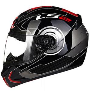 Mũ bảo hiểm Fullface LS2 FF352 2016 (đen đỏ)