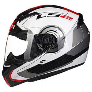 Mũ bảo hiểm Fullface LS2 FF352 2016 (trắng đỏ đen)