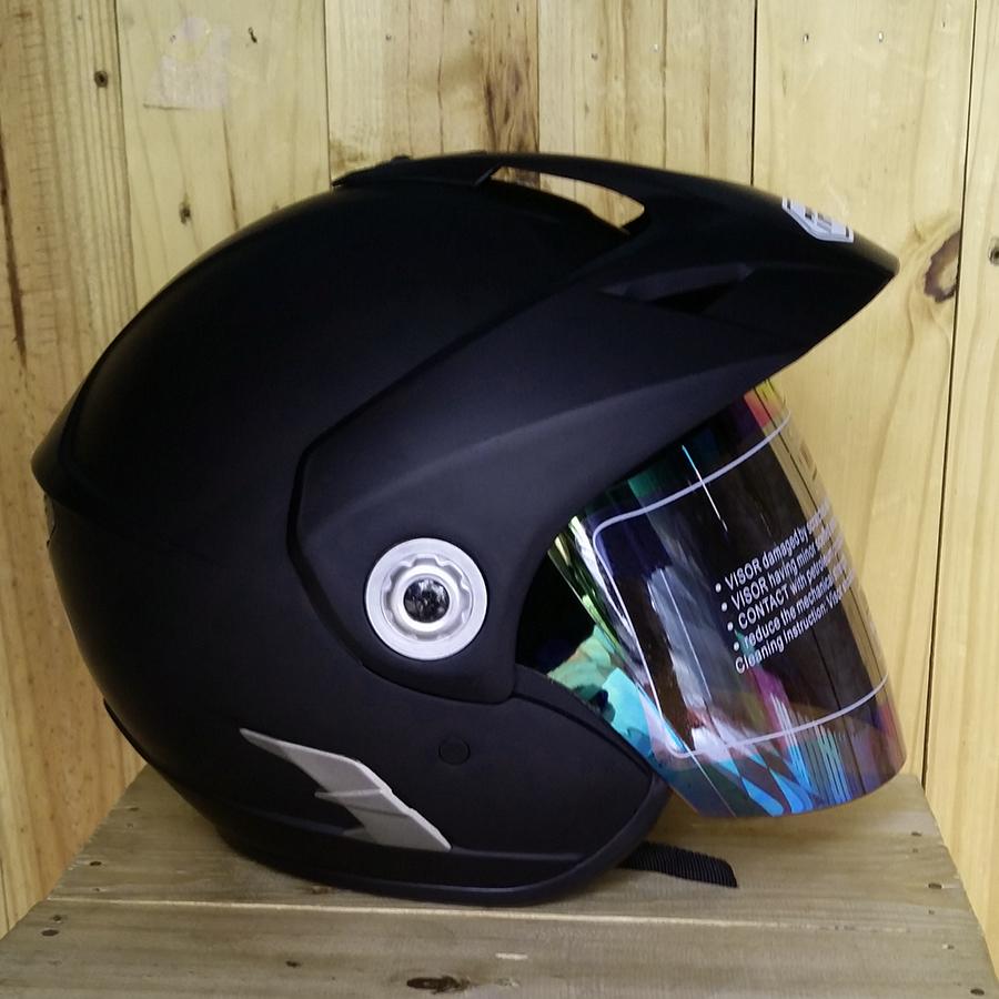 Mũ bảo hiểm 3/4 có kính Napoli N555 đen nhám