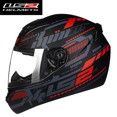 Mũ bảo hiểm Fullface LS2 FF352 2016 ( đen đỏ xám )