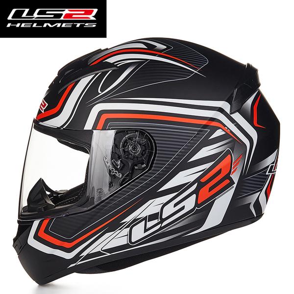 Mũ bảo hiểm Fullface LS2 FF352 2016 ( đen trắng cam )