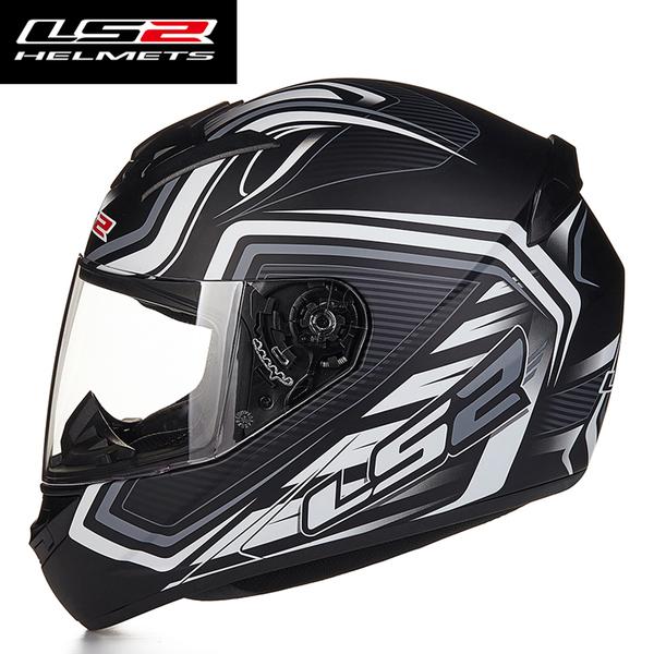 Mũ bảo hiểm Fullface LS2 FF352 2016 ( đen trắng xám )