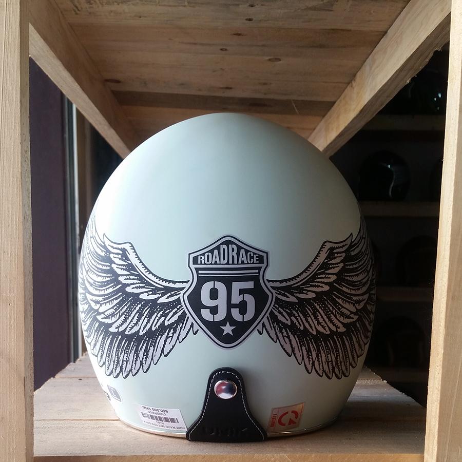 Mũ bảo hiểm 3/4 Thái Lan Unik Race xanh bạc