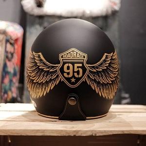 Mũ bảo hiểm 3/4 Unik Race vàng