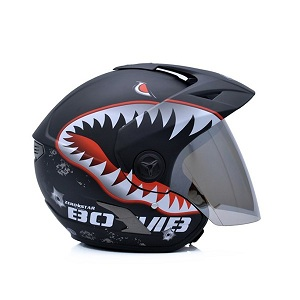 Mũ bảo hiểm 3/4 Yohe 887a cá mập