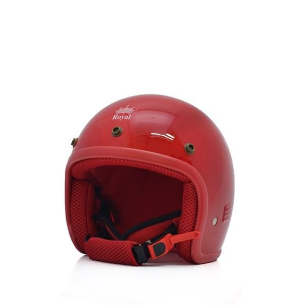 Mũ bảo hiểm trẻ em 3/4 M20s  đỏ (bóng)