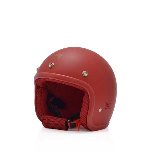 Mũ bảo hiểm trẻ em 3/4 M20s đỏ (nhám)