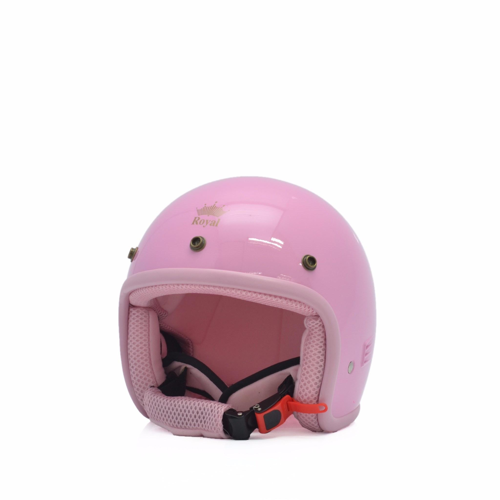 Mũ bảo hiểm trẻ em 3/4 M20s hồng phấn (bóng)