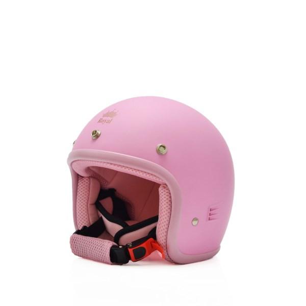 Mũ bảo hiểm trẻ em 3/4 M20s hồng phấn (nhám)