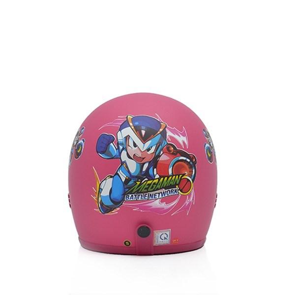 Mũ bảo hiểm trẻ em 3/4 M20s hồng (siêu nhân)