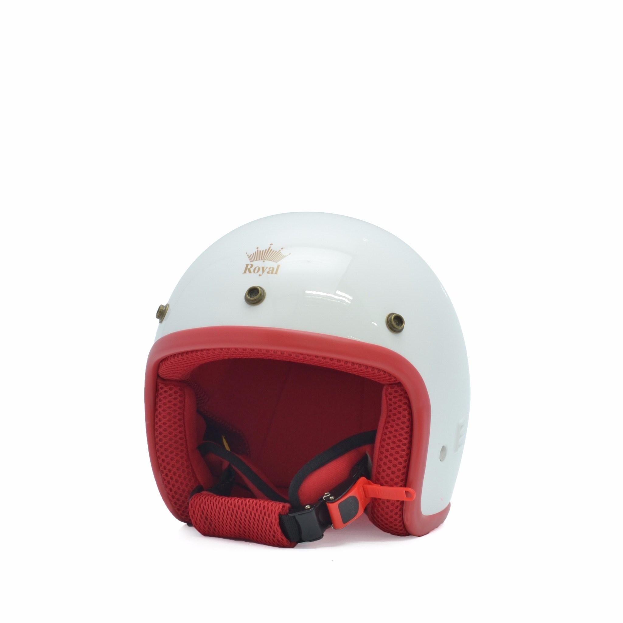 Mũ bảo hiểm trẻ em 3/4 M20s trắng - đỏ