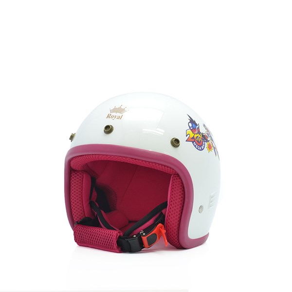 Mũ bảo hiểm trẻ em 3/4 M20s trắng - hồng