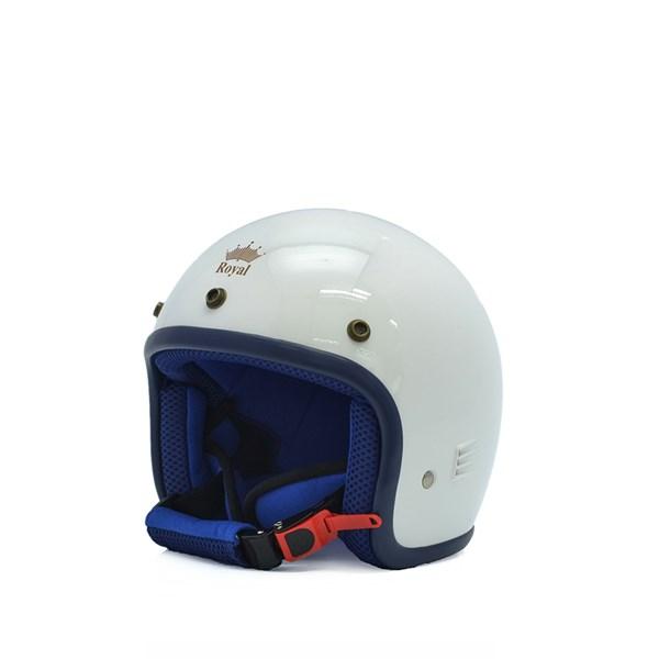 Mũ bảo hiểm trẻ em 3/4 M20s trắng - xanh
