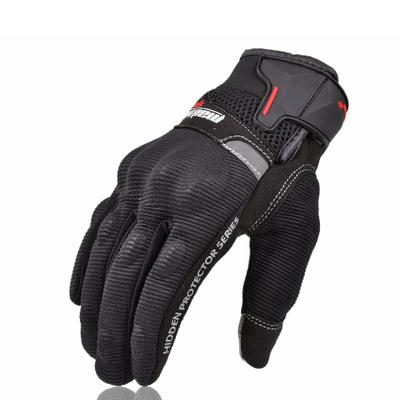 Găng tay xe máy Madbiker dài ngón đen MAD01