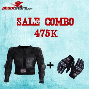 Sale combo áo giáp và găng tay Probiker