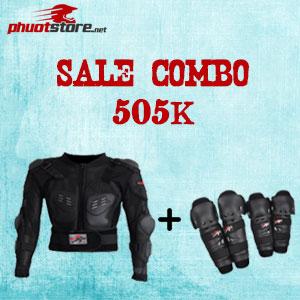 Combo áo giáp lưới và giáp tay chân Probiker