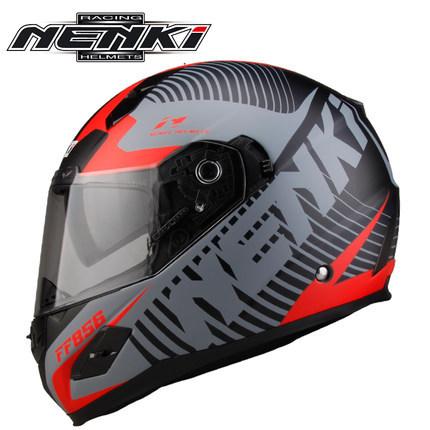 Mũ bảo hiểm fullface Nenki racing helmet ( 2 kính )