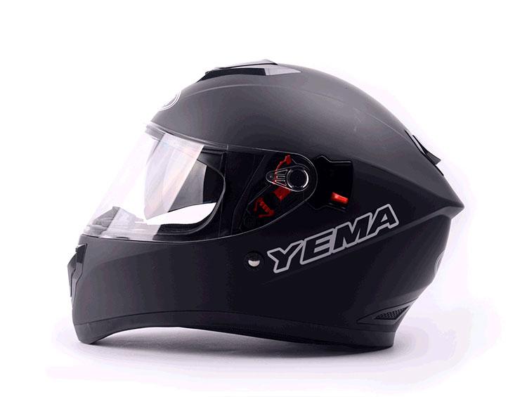 Mũ bảo hiểm fullface Yema 2 kính đen nhám