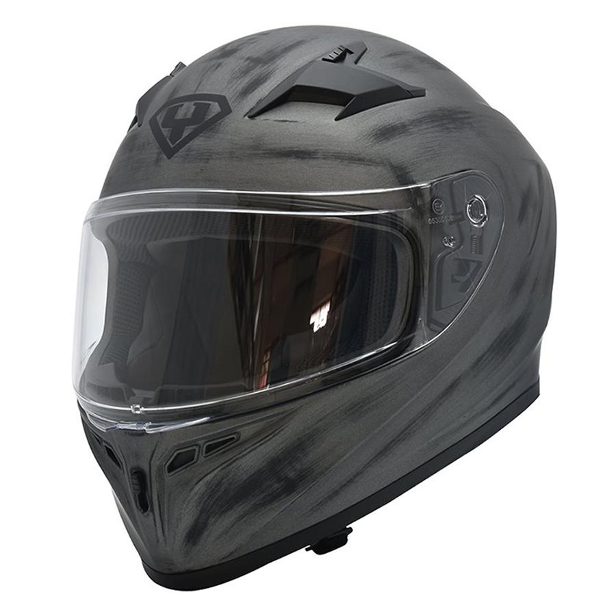 Mũ bảo hiểm fullface Yohe 978 Storm (xám)