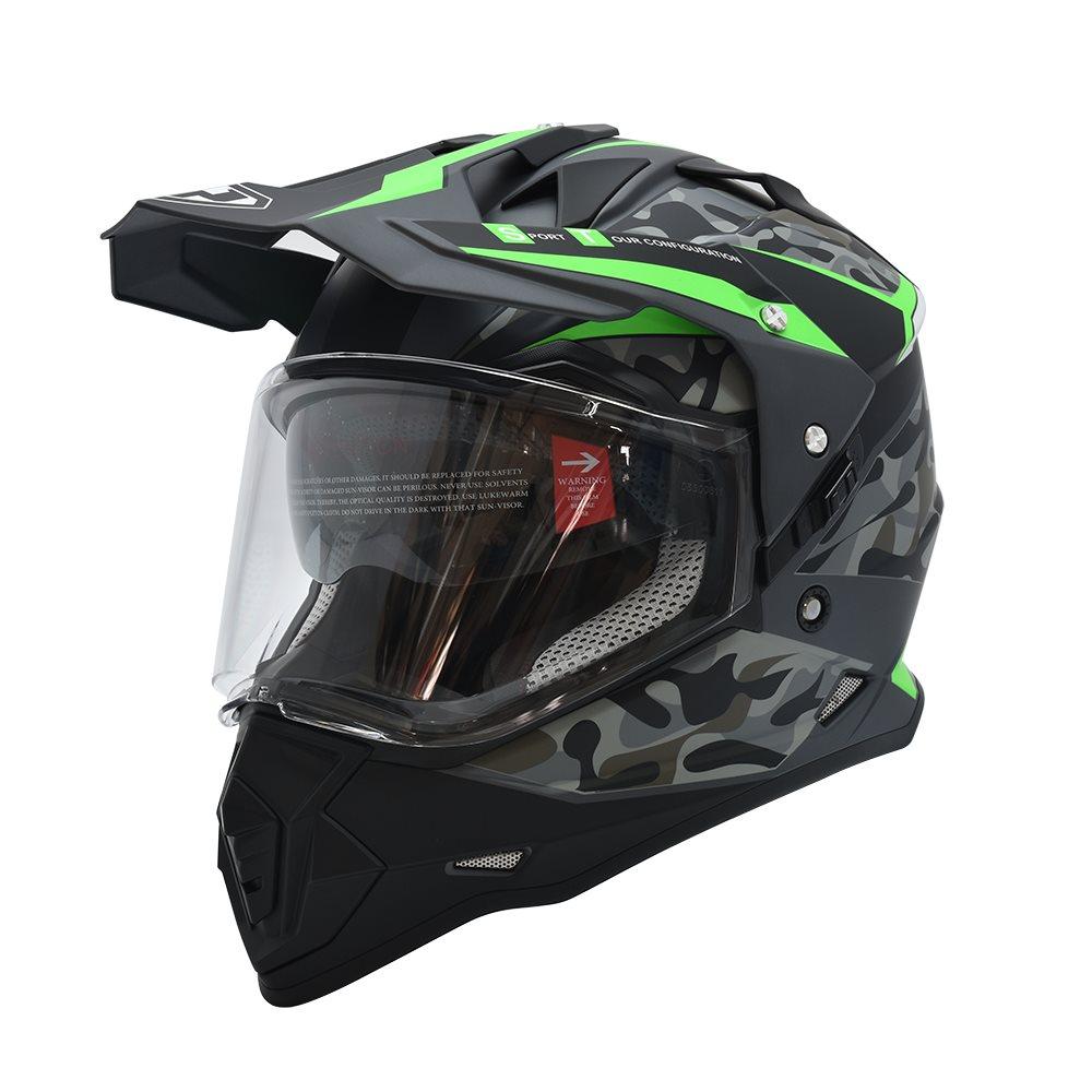 Mũ cào cào Dual Sport Yohe 632a 2 kính (tem camo)