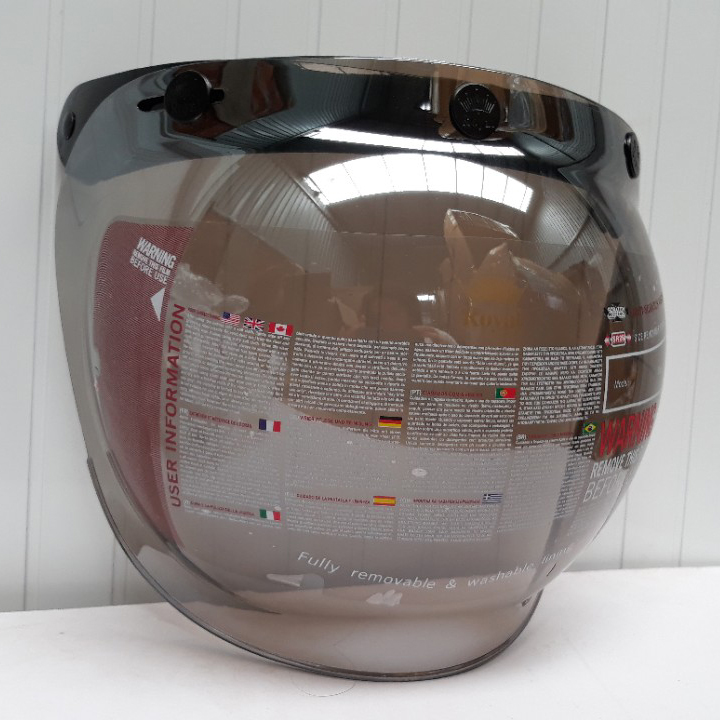 Kính gắn mũ bảo hiểm 3/4 Bubble Royal tráng gương