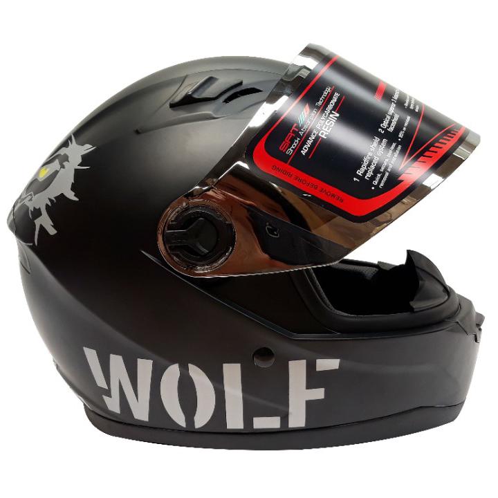 Mũ bảo hiểm fullface AGU tem sói