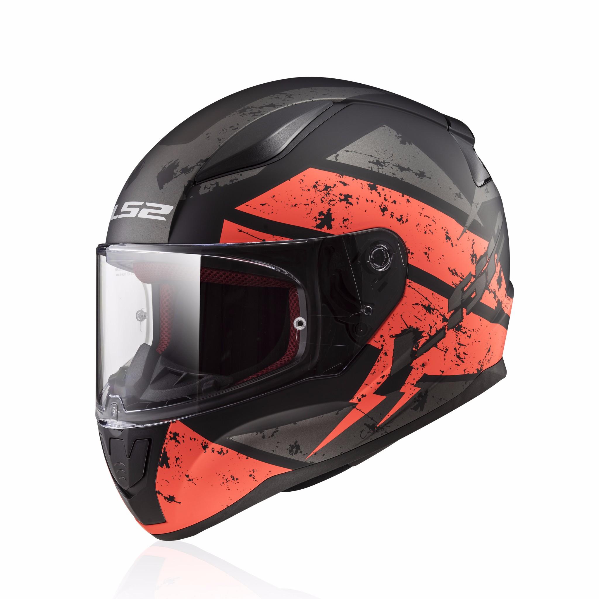 Mũ bảo hiểm fullface LS2 Rapid FF353 đen cam